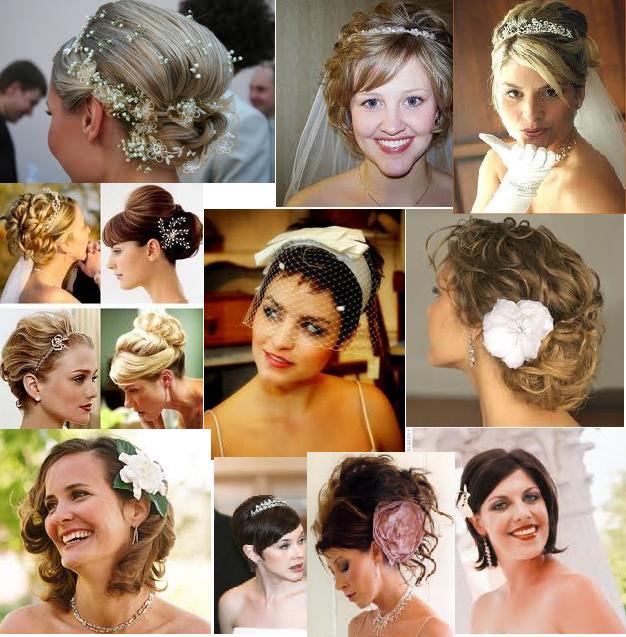 Peinados faciles para cabello corto para novias